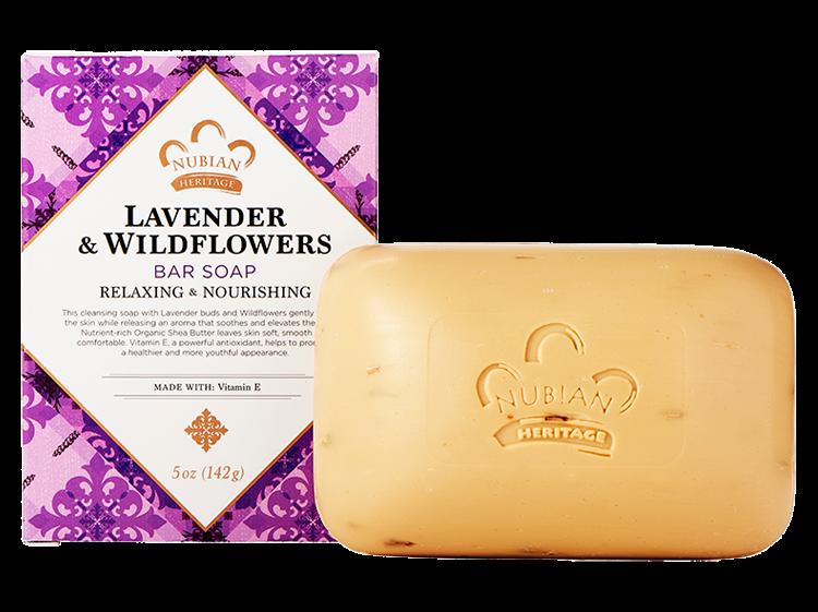 Nubian Heritage Lavender & Wildflowers Bar Soap - 6 pack