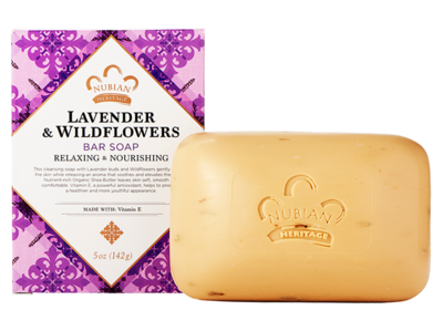 Nubian Heritage Lavender & Wildflowers Bar Soap - 6 pack