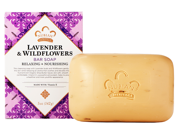 Nubian Heritage Lavender & Wildflowers Bar Soap 5oz