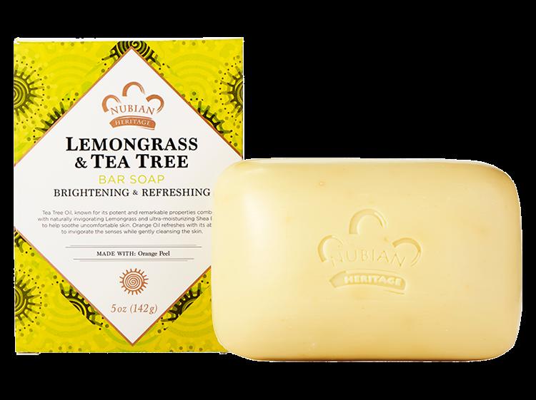 Nubian Heritage Lemongrass & Tea Tree Bar Soap - 6 Pack