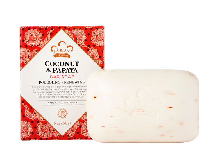 Nubian Heritage-Coconut and Papaya Bar Soap 5oz