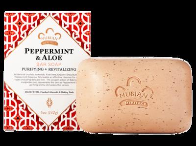 Nubian Heritage-Peppermint & Aloe Bar Soap