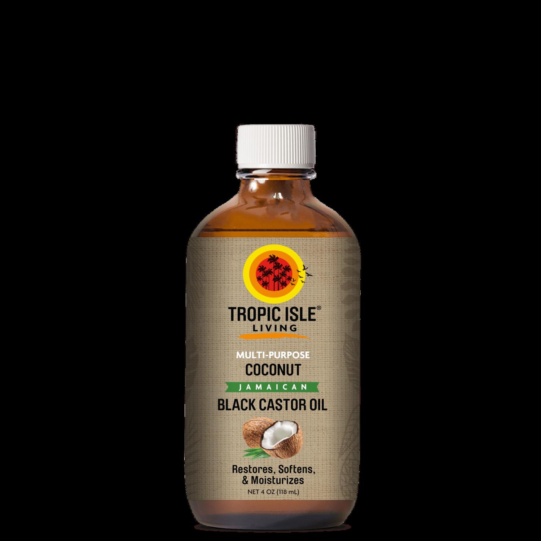 Tropic Isle Living Coconut Black Castor Oil 4oz