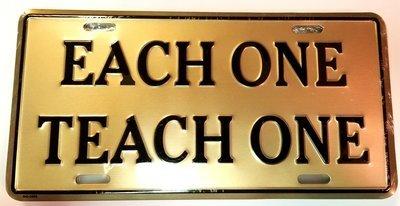 Each One Teach One License Plate