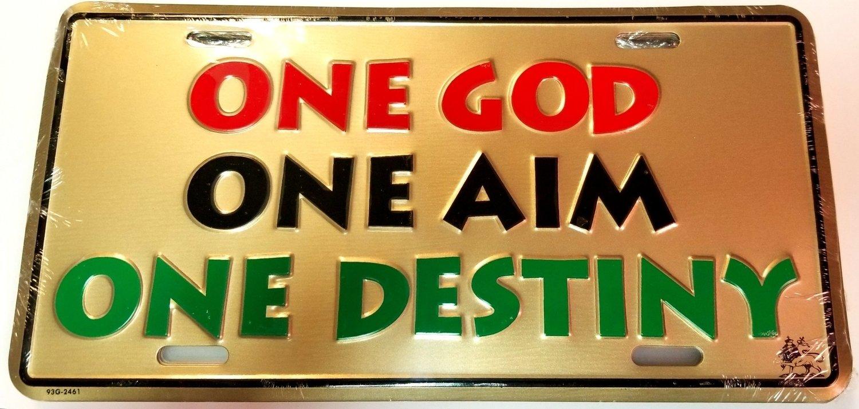 One God One Aim License Plate
