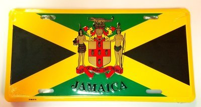 Jamaica Coat of Arms License Plate