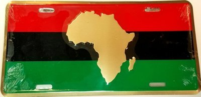 Africa RBG License Plate