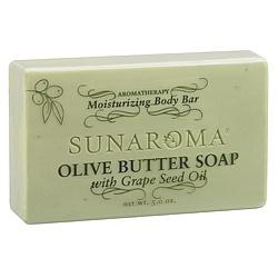 Sunaroma- Olive Butter Soap with Grape Seed Oil Bar Soap 5oz