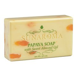 Sunaroma-Papya Soap With Sweet Almond Oil Bar Soap 5oz