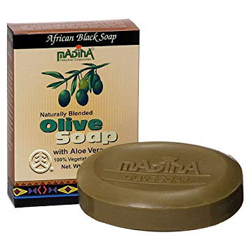 Madina-African Black Olive Soap With Aloe Vera Bar Soap 3.5 oz