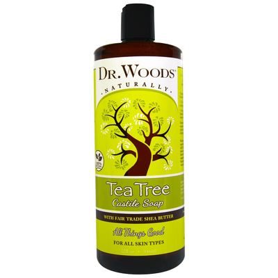 Dr.Woods-Tea Tree Castile Soap with Shea Butter 32oz