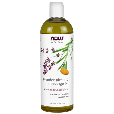 Now Solutions-Lavender Almond Massage Oil 16oz