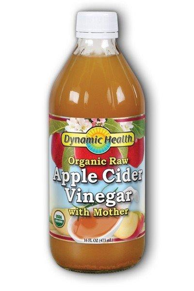 Dynamic Health Raw Apple Cider Vinegar - 16oz (Glass)