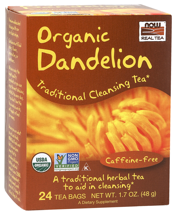 Now Real Tea- Organic Dandelion Tea 1.7 oz