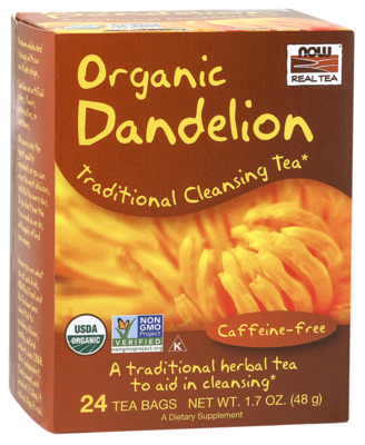 Now Real Tea- Organic Dandelion Tea 1.7 oz