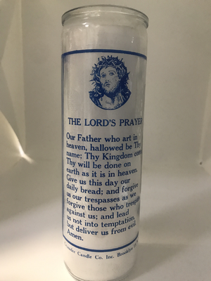 7 Day Candle -The Lord's Prayer