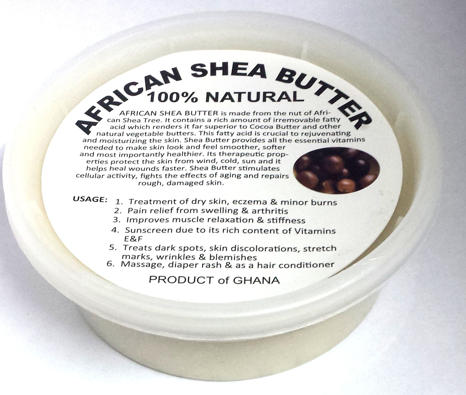 Raw African Shea Butter - 8 oz