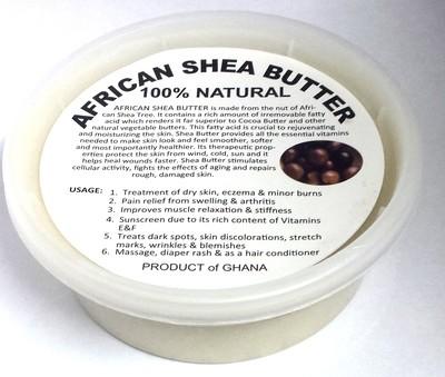 Raw White African Shea Butter - 8 oz