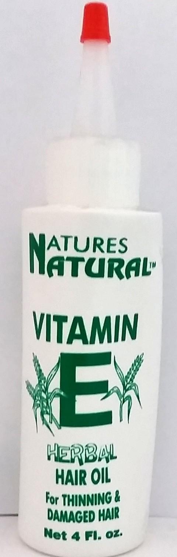 Natures Natural Vitamin E Herbal Hair Oil. 4oz.
