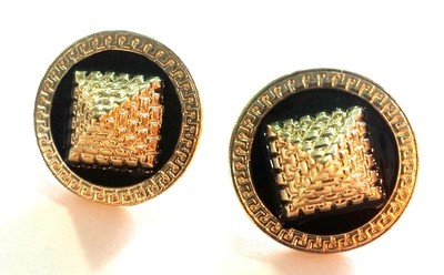Pyramid Stud Earrings (Gold Color)
