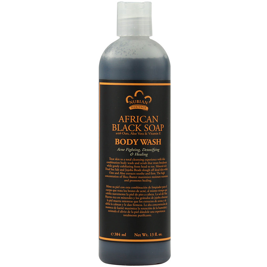 Nubian Heritage Black Soap Body Wash (13 oz)