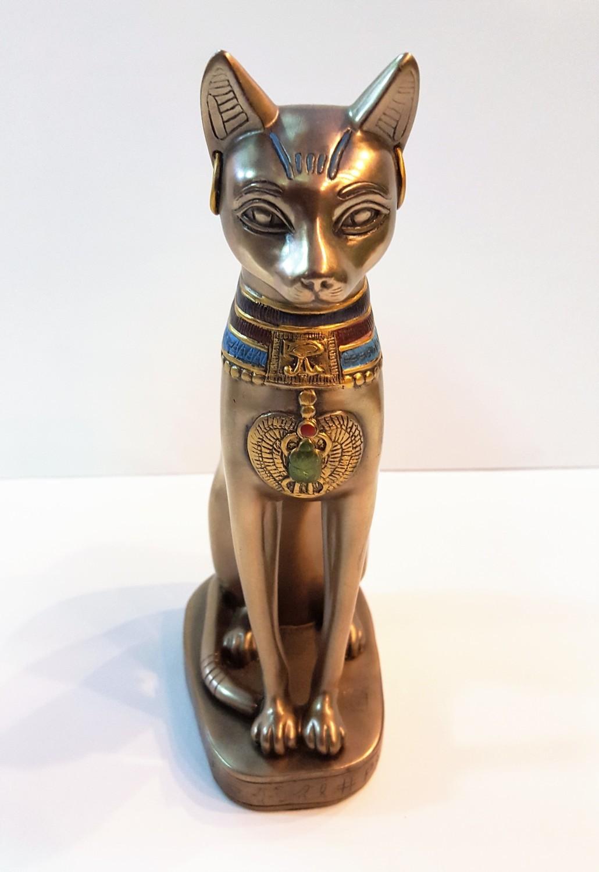 Egyptian (Kemetic) Bast (Bastet) Cat Goddess Statue