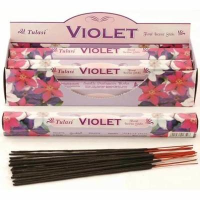 Tulasi Violet Incense Pack- 20 sticks