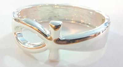 Ankh Bracelet - Silver Color