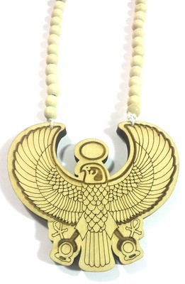 Horus (Heru) Wooden Necklace