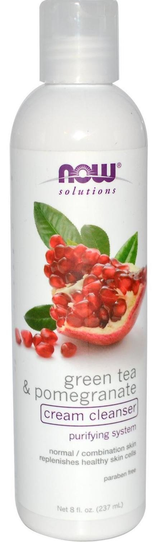 Now Green Tea Pomegranate Facial Cream Cleanser - 8 oz.