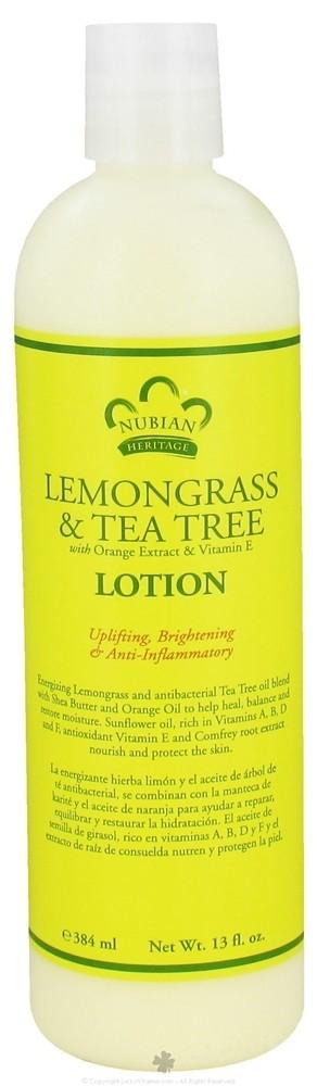 Nubian Heritage Lemongrass & Tea Tree Lotion (13 oz)