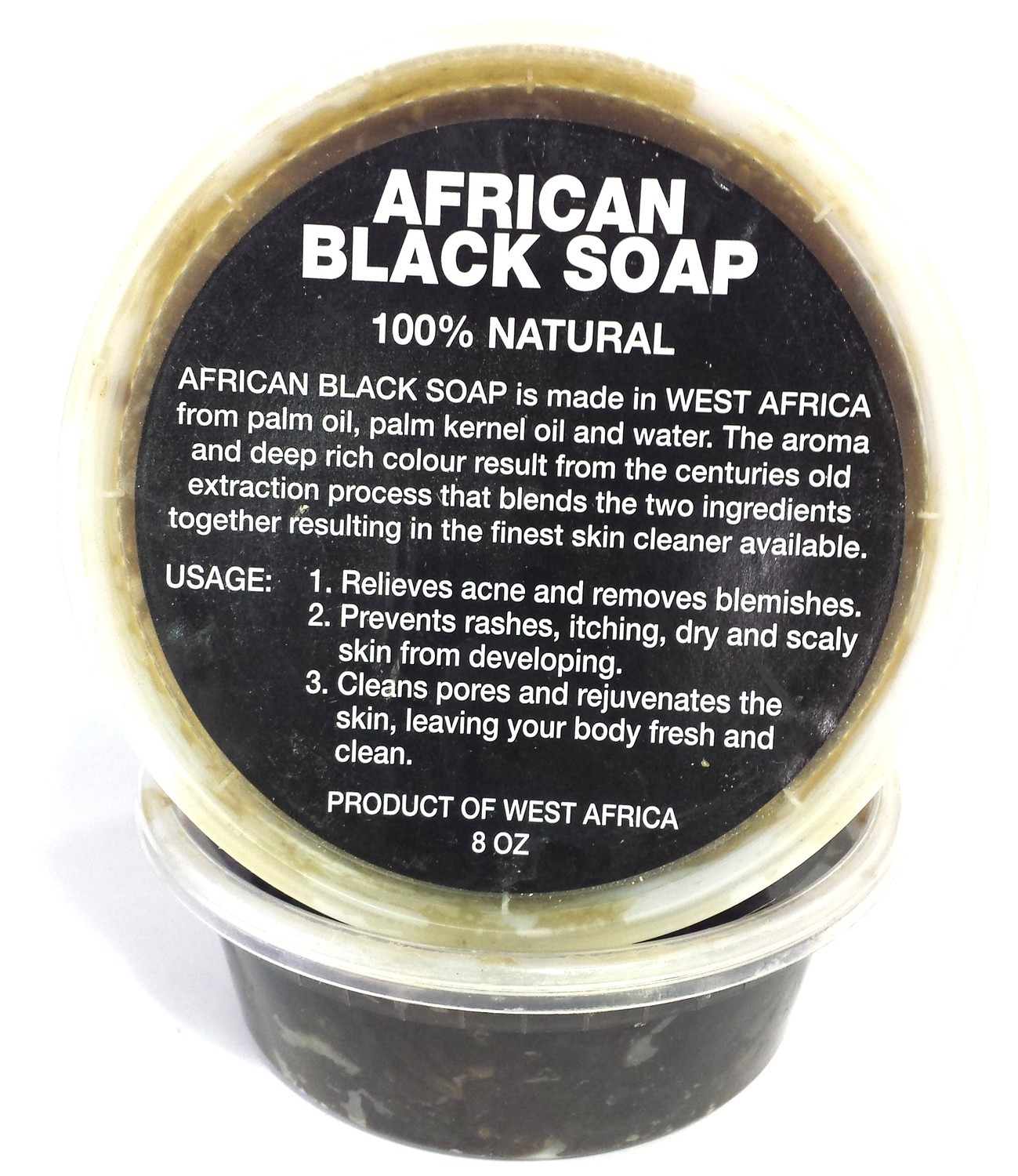 African Black Soap 100% Natural 8oz