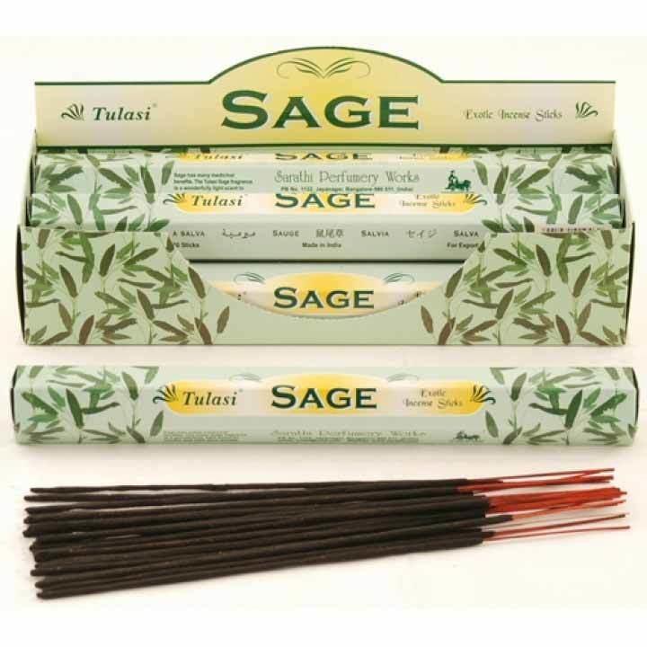 Tulasi Sage Incense Pack- 20 sticks