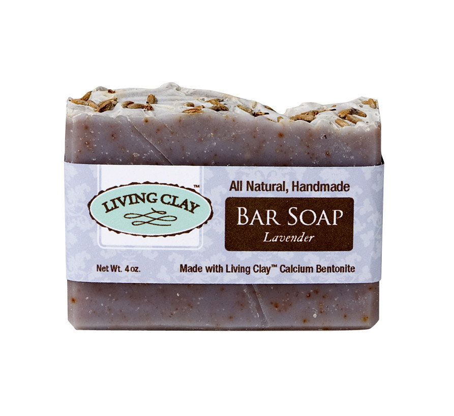 Living Clay Lavender 4oz Bar Soap