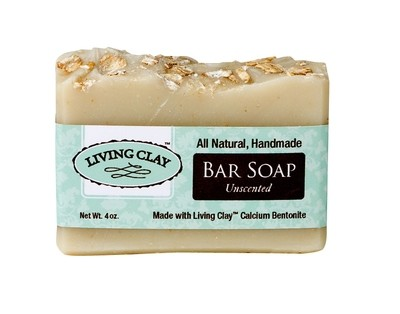 Living Clay 4oz Unscented Bar Soap