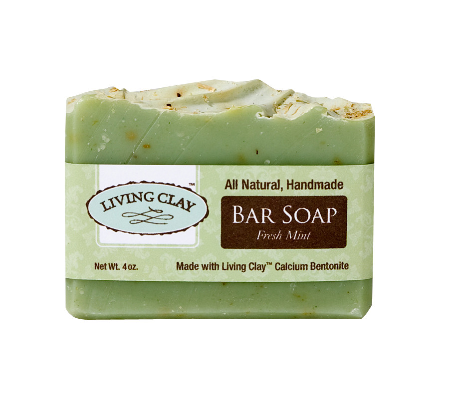 Living Clay 4oz Fresh Mint Bar Soap