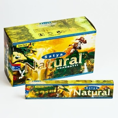 Natural Satya Incense Box 15 Grams (180 Sticks)