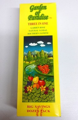Garden Of Paradise Three In One Incense Box
