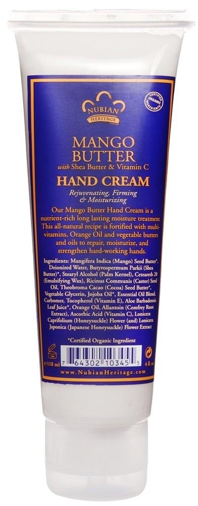 Nubian Heritage Mango Butter Hand Cream 4oz