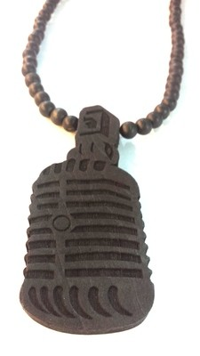 Mic Wooden Necklace