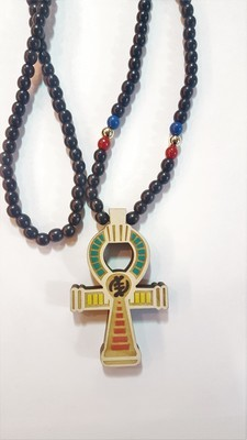 Ankh Necklace with Gye Nyame