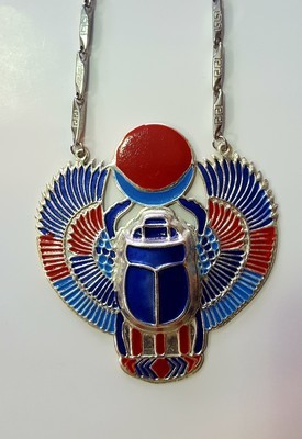 Kemetic Khepra (Scarab) Necklace
