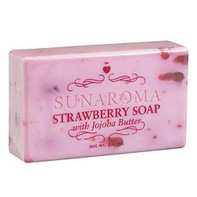 Sunaroma-Strawberry with Jojoba Butter 5oz Bar Soap