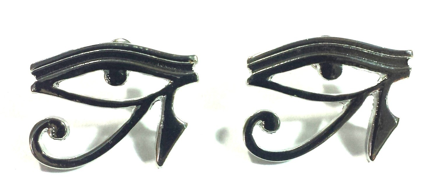 Eye Of Horus (Heru) Earrings (Sliver Color)