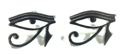 Eye Of Horus (Heru) Earrings (Sliver Color)