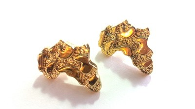 Africa Stud Earrings (Gold Color)
