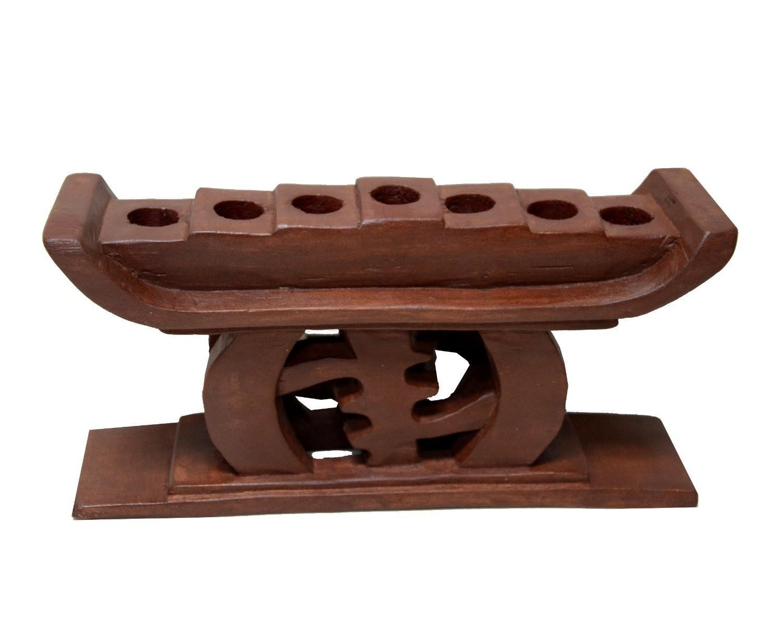 Kwanzaa Gye Nyame Candleholder (Brown) - Made in Ghana