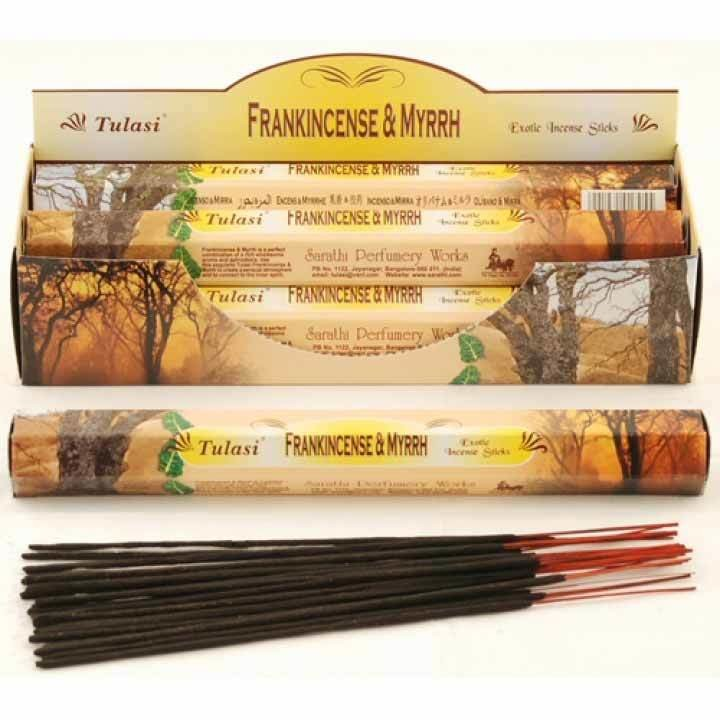 Tulasi Frankincense & Myrrh Incense Pack - 20 sticks