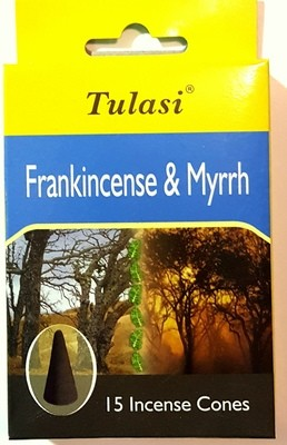 Tulasi Frankincense and Myrrh Cone Incense