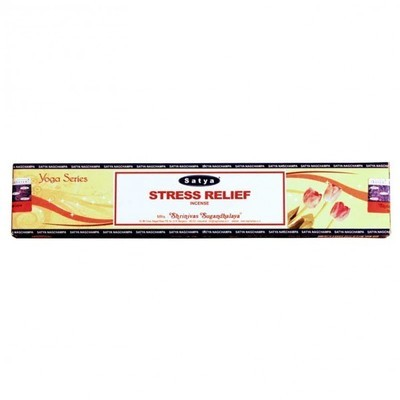 Stress Relief Satya Incense Pack - 15 Sticks